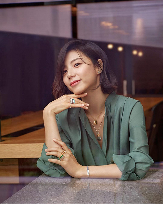 Model rambut wanita Korea Park soo-jin